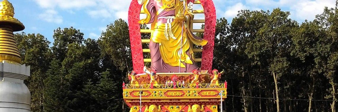 New Padmasambhava Statue at Mindrolling.