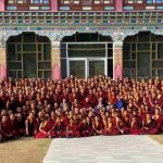 Mindrolling monks gather for a Losar photo.
