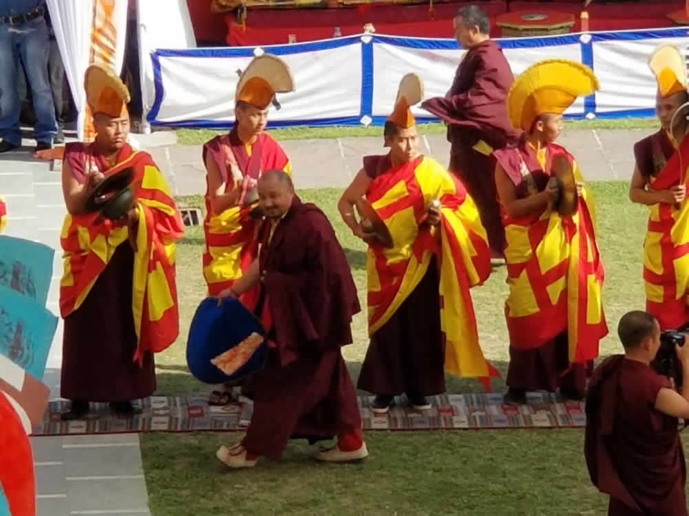 The Great Tse Chu ceremony of Mindrolling in India, 2018