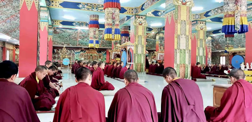 At Mindrolling Monastery, prayers and aspirations are offered at the passing of Lodi Gyari Rinpoche