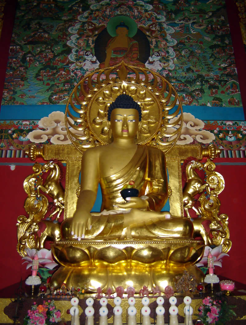 Buddha Shakyamuni Shrine Room in the Great Stupa at Mindrolling