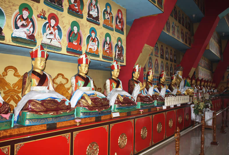 Padmasambhava Shrine Room in the Great Stupa at Mindrolling