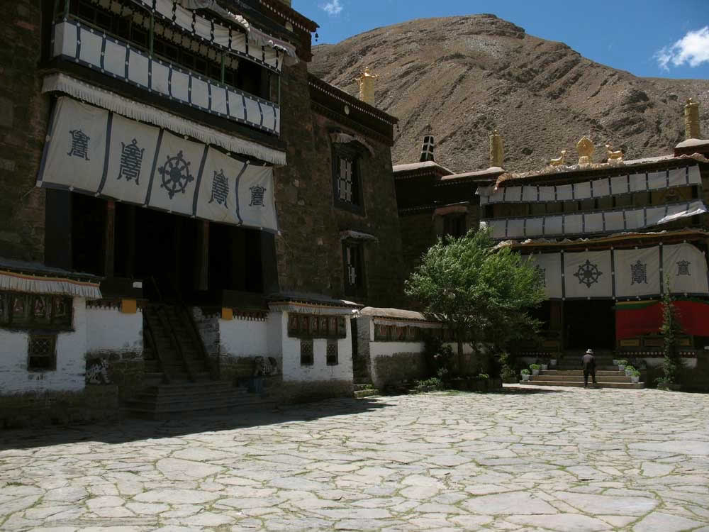 Mindrolling Monastery in the Drachi Valley of Tibet