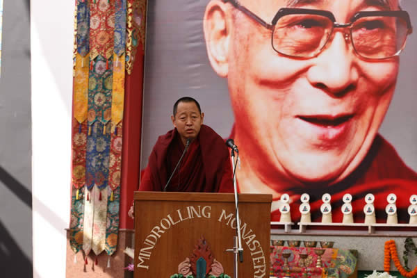 HE Khenchen Rinpoche during the Silver Jubilee celebration of the Ngagyur Nyingma College