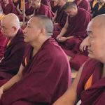 Mindrolling monks receive the Lochen Kabum