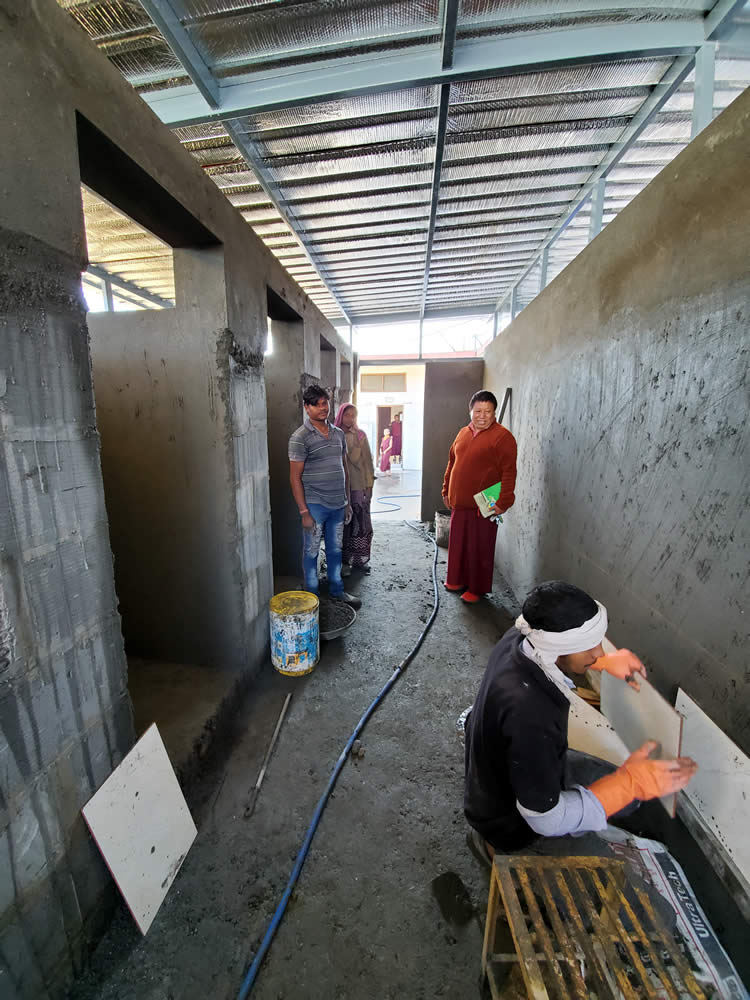 Young monks dormitory and classroom renovations