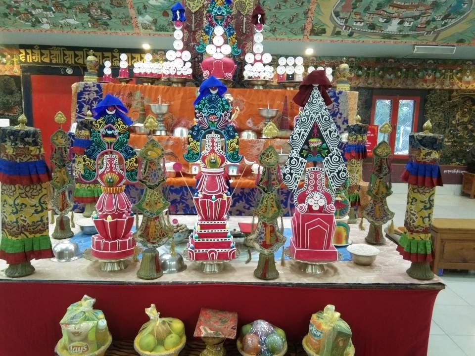 Shrine at Mindrolling Monastery -2